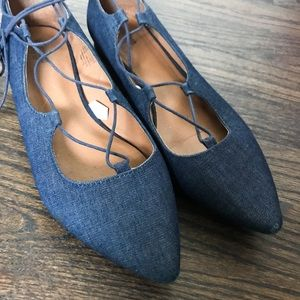 Mossimo Denim Lace Up Flats